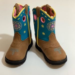 John Deere western embroidered infant boots SZ 4M